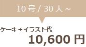 生クリームデコレーション10号+イラスト代 10600円