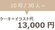 生クリームデコレーション10号+イラスト代 13000円