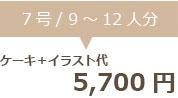 生クリームデコレーション7号+イラスト代 5700円